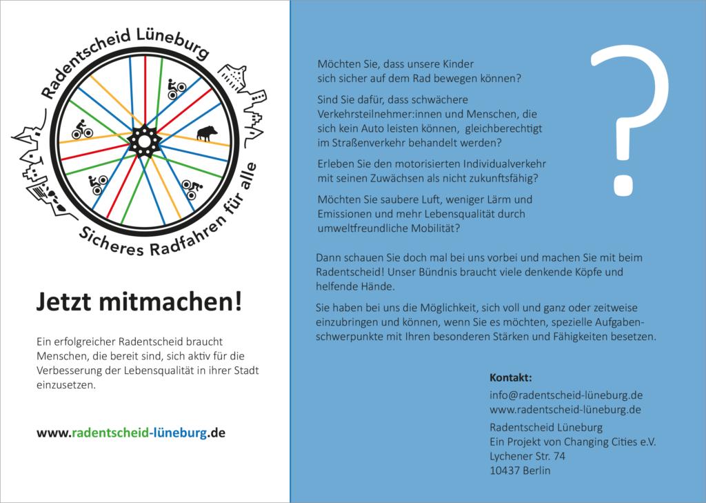 Radentscheid Lüneburg Flyer